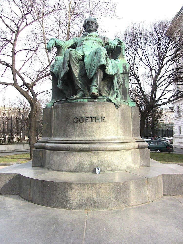 Vienna as a whole has very normal levels of ambient radioactivity, but the granite base of the statue of Goethe is a bit hot.